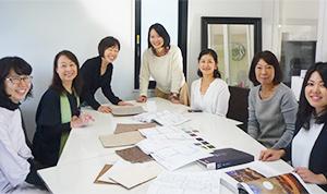 設計スタッフは全員女性